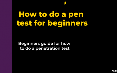 How to do a pen test for beginners