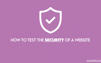 how to test the security of a website