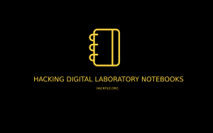 Hacking Digital Laboratory Notebooks